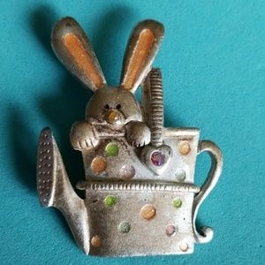 BUNNY in Watering can pin